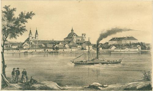Rohn Alajos: Vác - Piarista templom, 1853 (Varsányi photographiai rajza után)