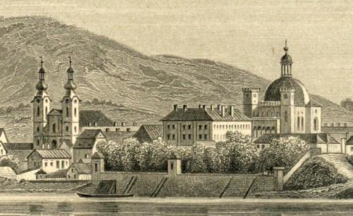 Rohbock Lajos: Vác - Piarista templom, 1856