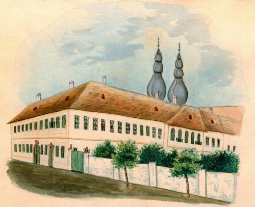 Váry Gellért: Váci Piarista Rendház, Noviciátus és Gimnázium, 1877