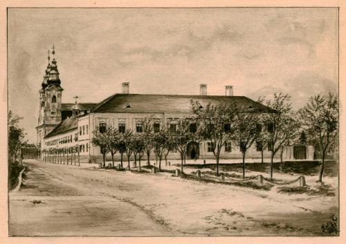 Rietly Károly: Váci Piarista Templom, Rendház, Noviciátus és Gimnázium, 1887
