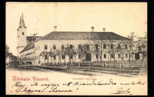 Váci Piarista Templom, Rendház, Noviciátus és Gimnázium, 1890 körül