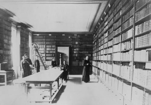 A Váci Piarista Rendház könyvtára, 1897