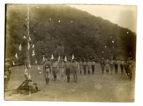 Váci cserkészek a cserhátszentiváni táborban, 1925